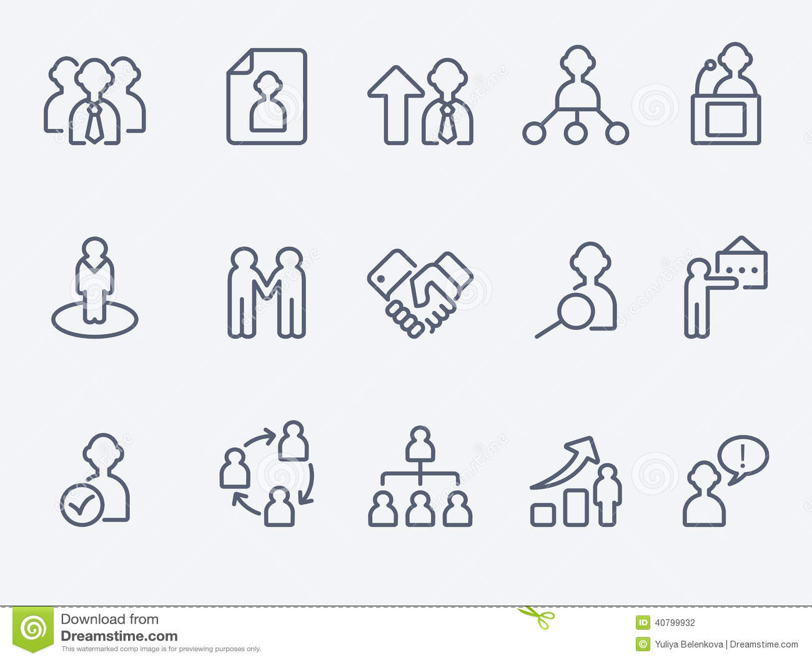 Ludzkie zarządzanie ikony