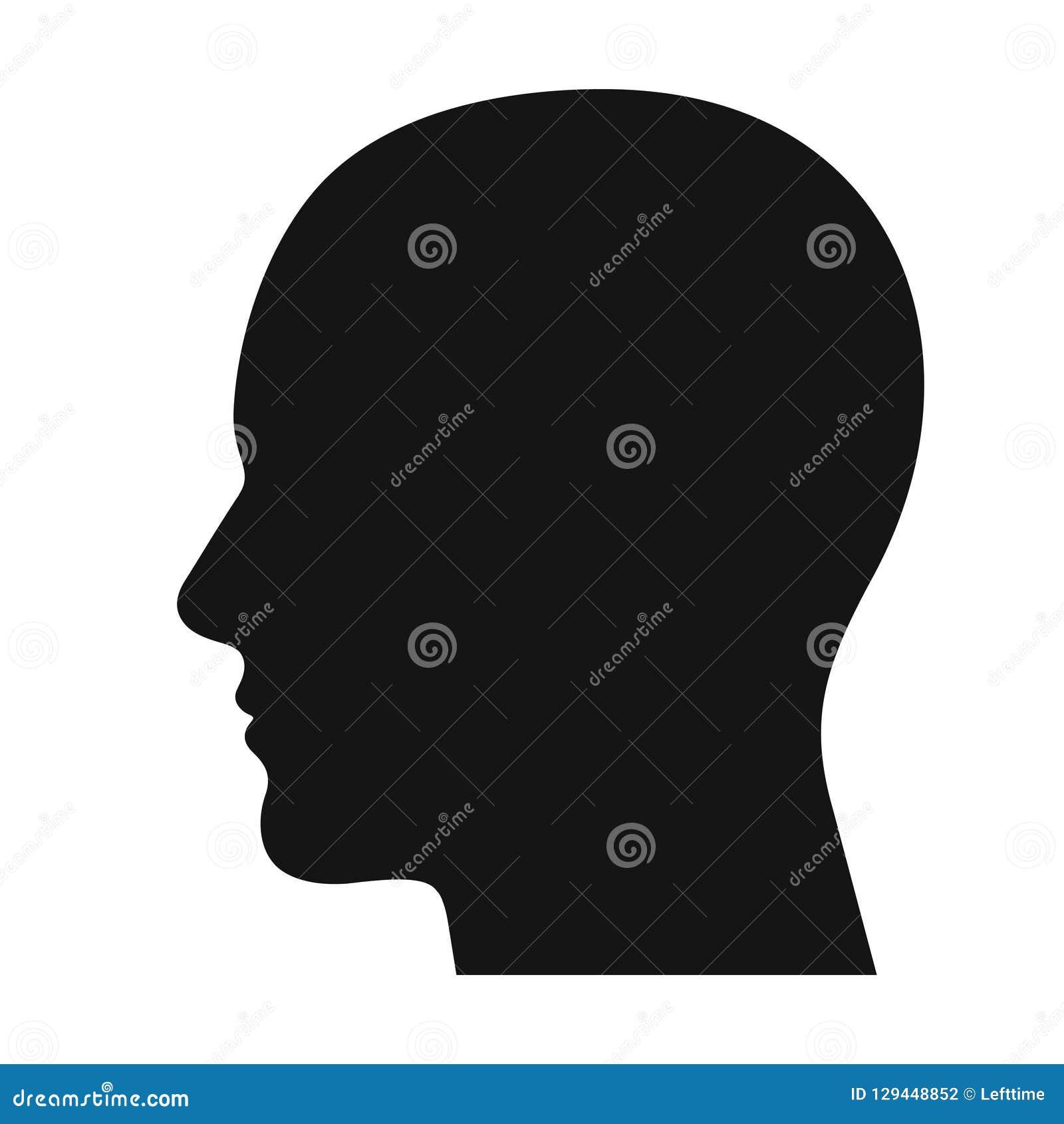 Ludzkiej głowy profilu czerni cienia sylwetka