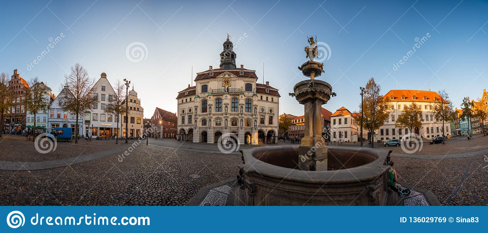 Lueneburg Old City Hall And Fountain And Cupid Stock Image   Image ...