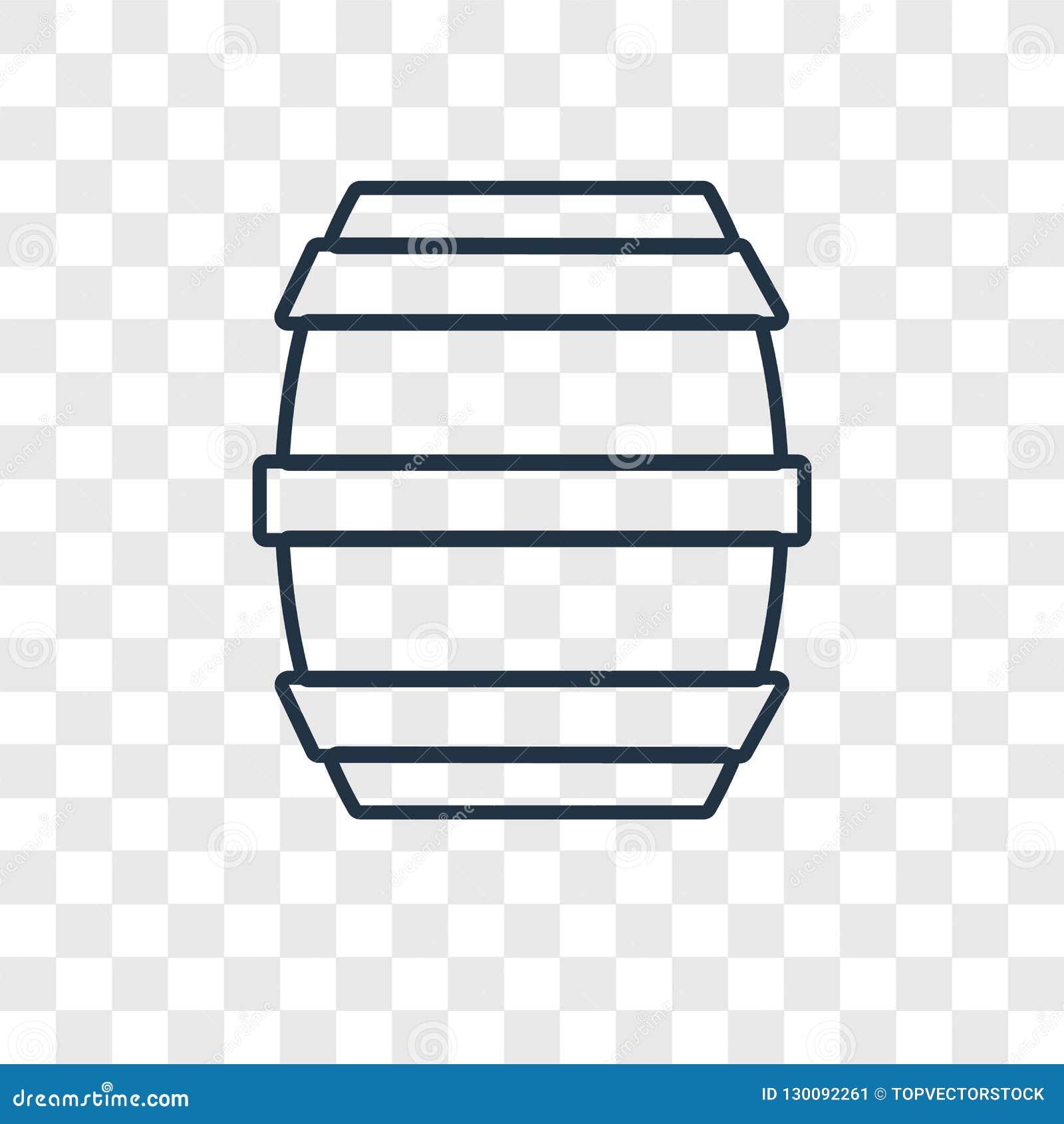 Lufowego pojęcia wektorowa liniowa ikona odizolowywająca na przejrzystym backgr