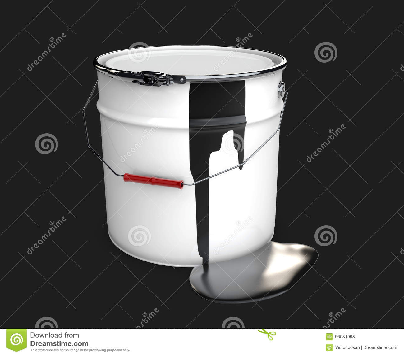 Lufowy olej, 3d ilustracja odizolowywał czerń