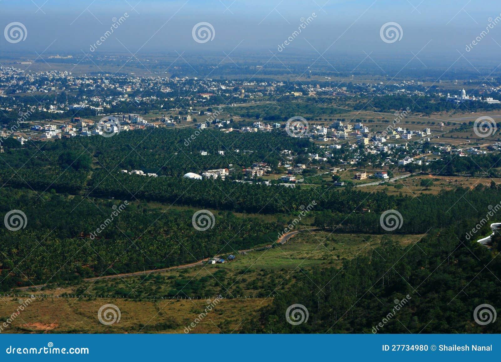 Luftaufnahme der Mysore-Stadt