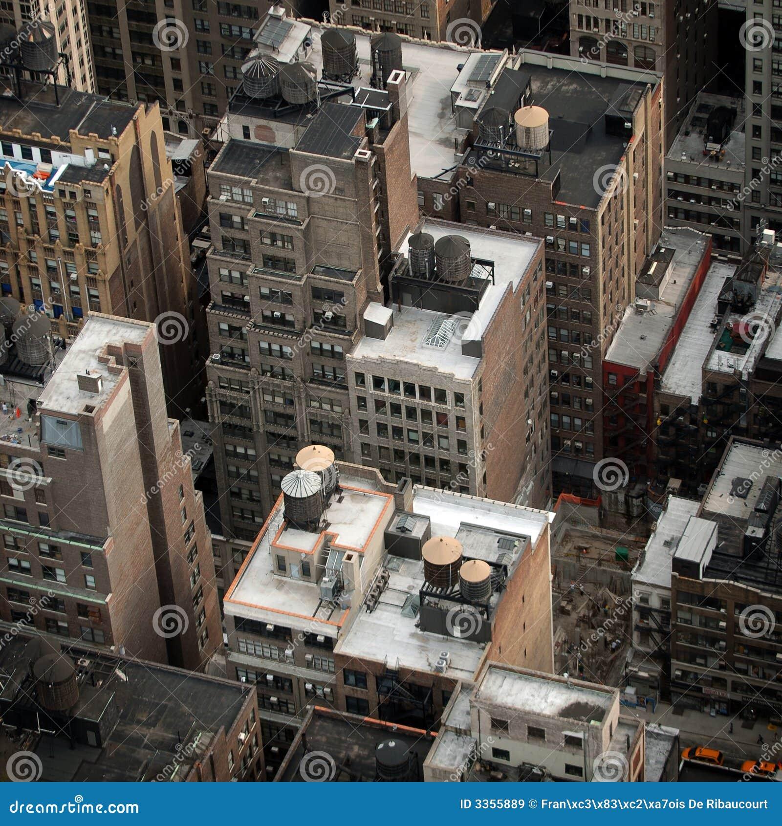 Luftaufnahme der NYC Gebäude