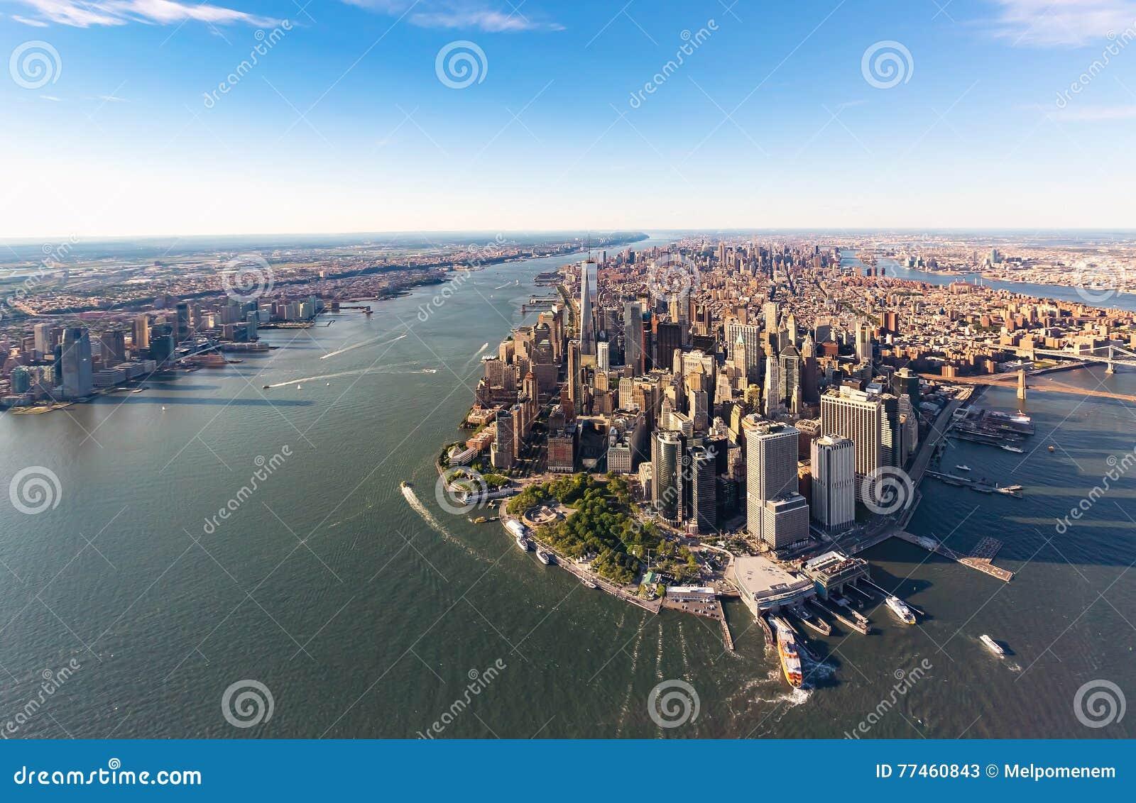 Luftaufnahme des Lower Manhattan New York City
