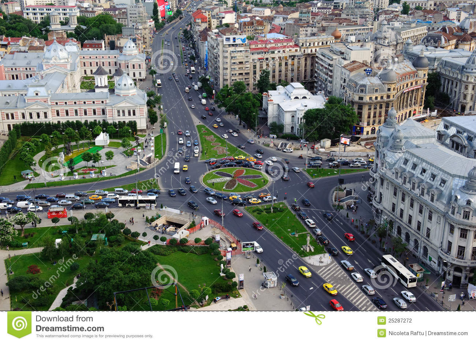 Luftaufnahme des Stadtzentrums von Bucharest