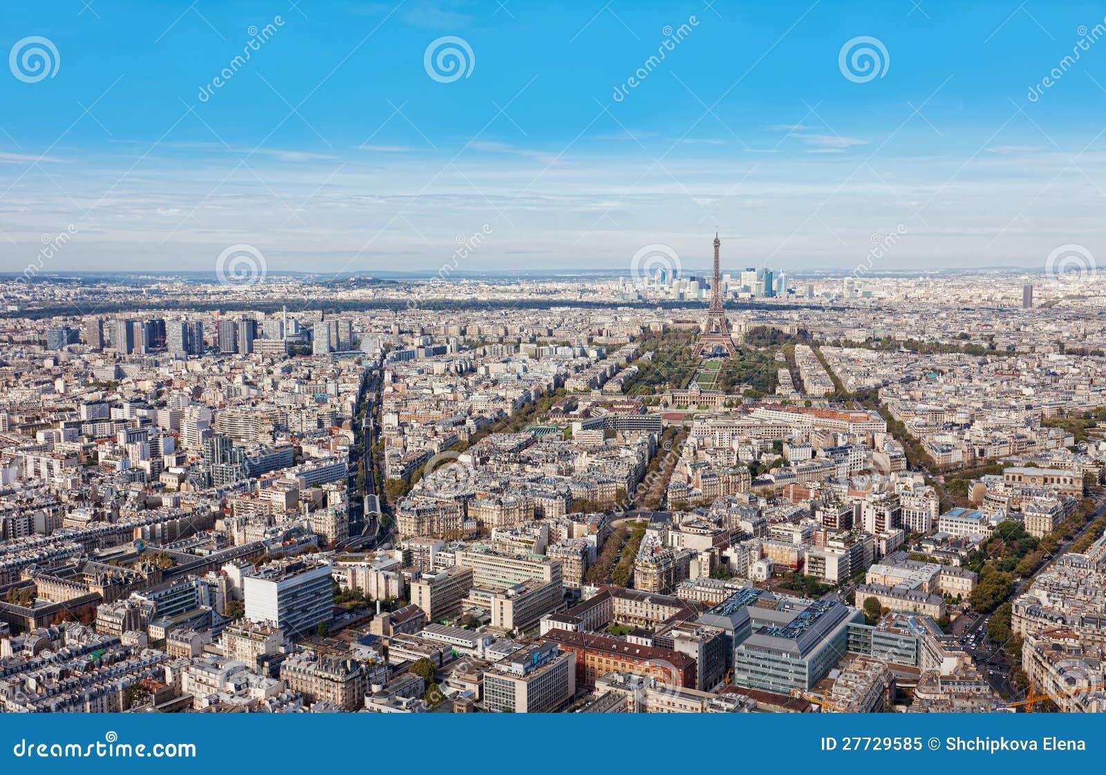Luftaufnahme von Paris