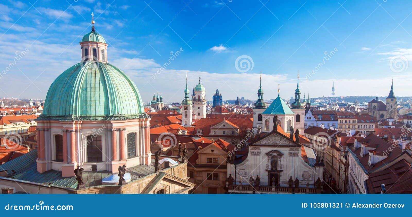 Luftaufnahme von Prag, Tschechische Republik
