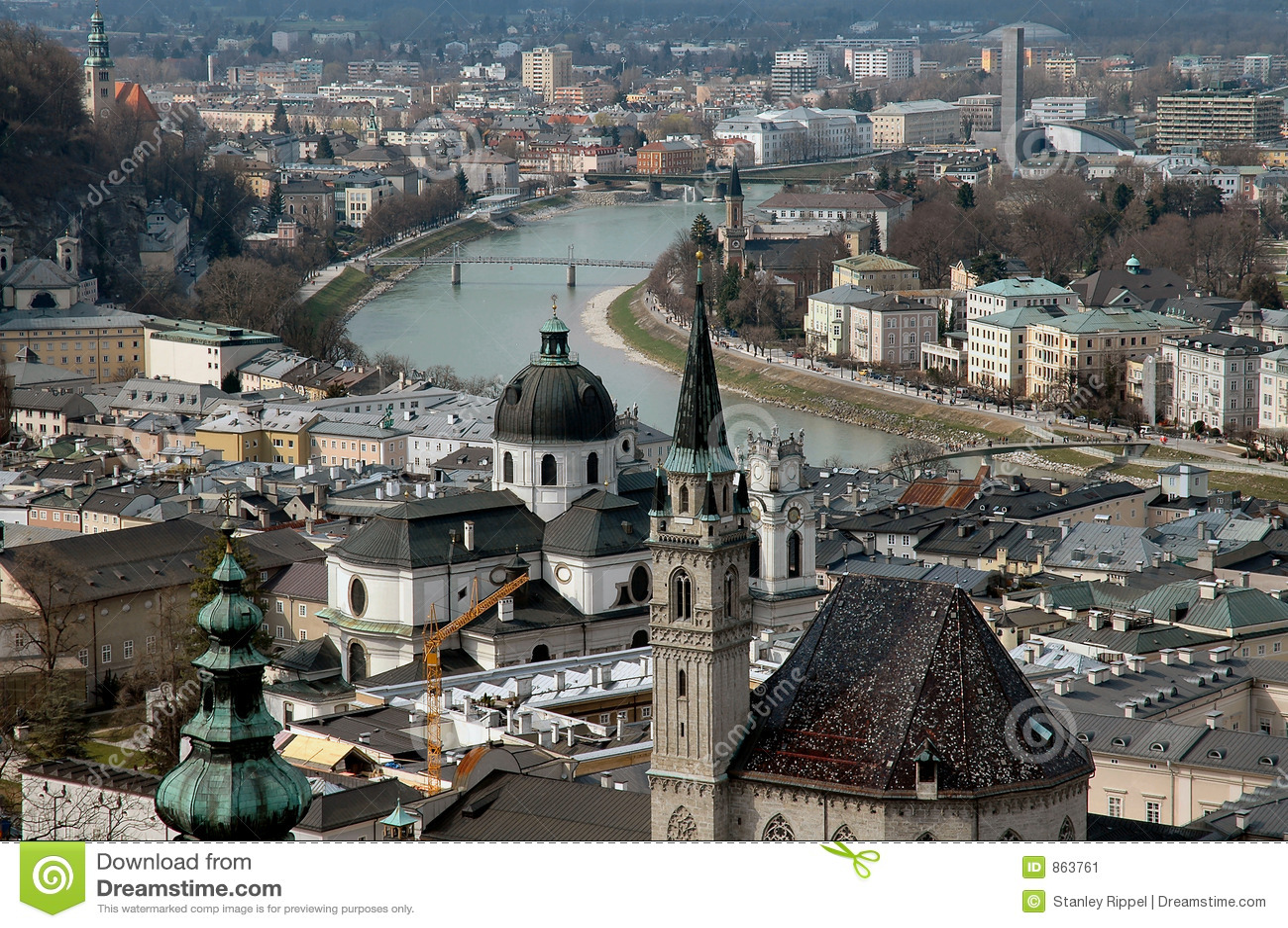 Luftaufnahme von Salzburg, Österreich