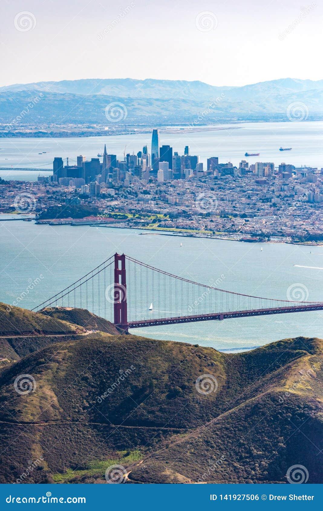 Luftaufnahme von San Francisco Bay Area