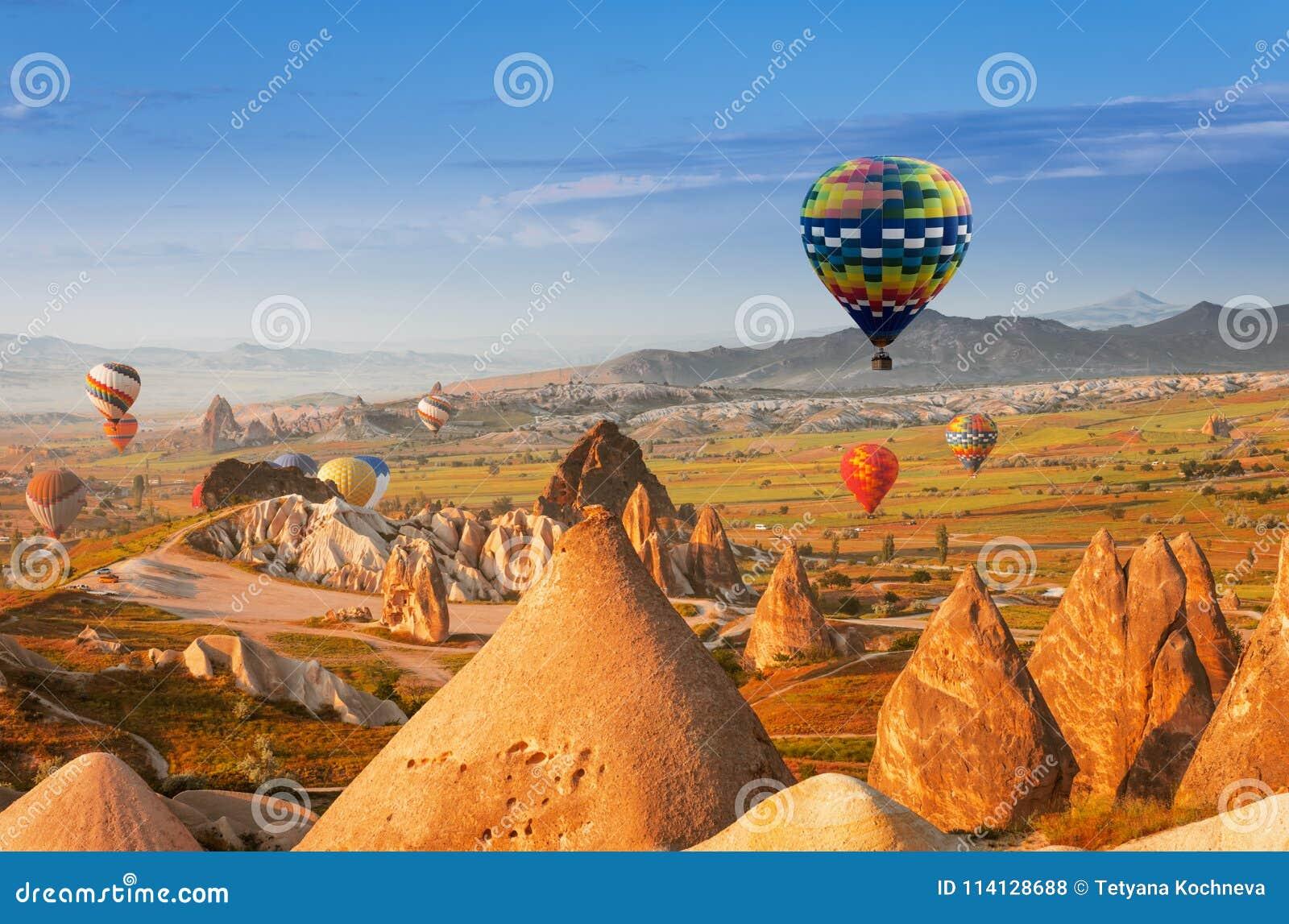 Luftballong i Cappadocia, Turkiet