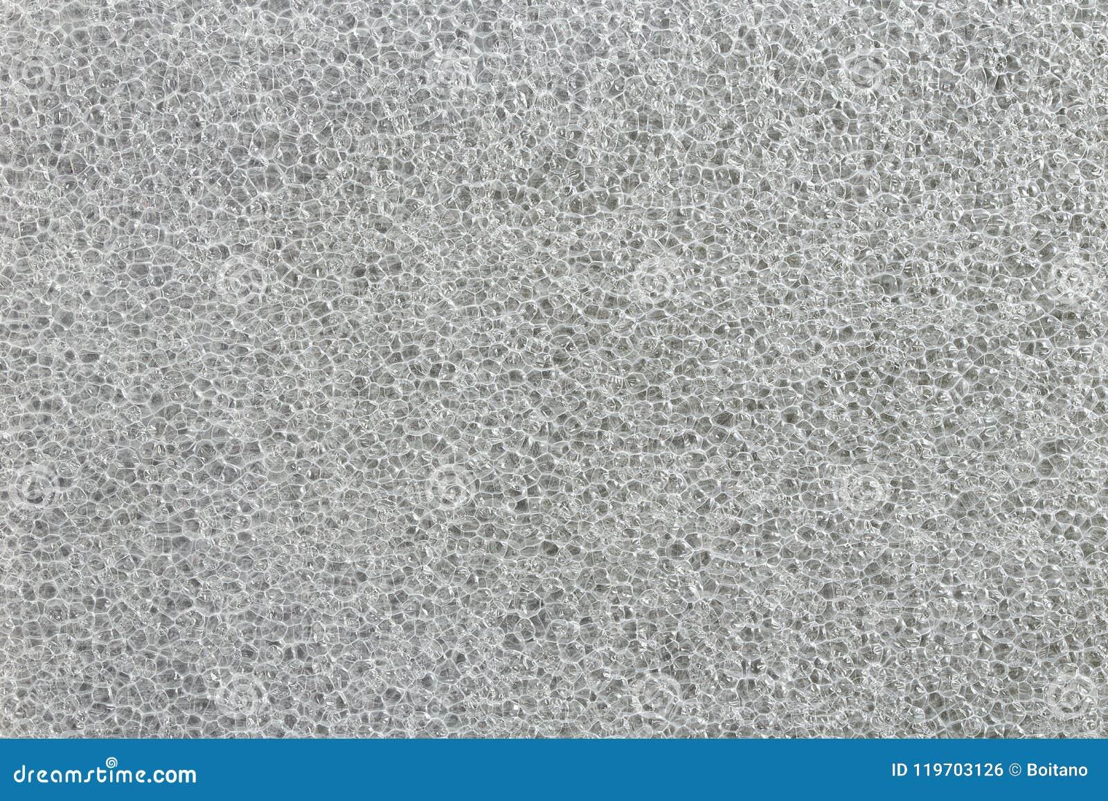 Luftblasen im Abschluss oben Sprudelt Hintergrund Blatt des Polyäthylens EPE Polypropylenbrettschaum Schaumkunststoffblattbeschaf