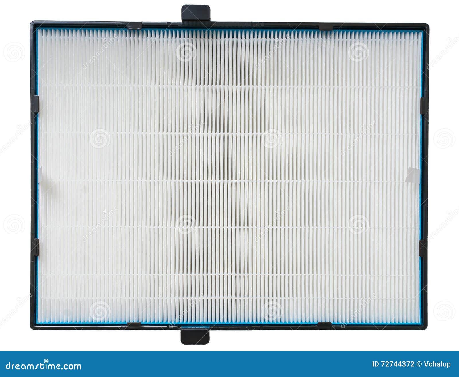 Luftfilter för hög effektivitet för HVAC-system På white