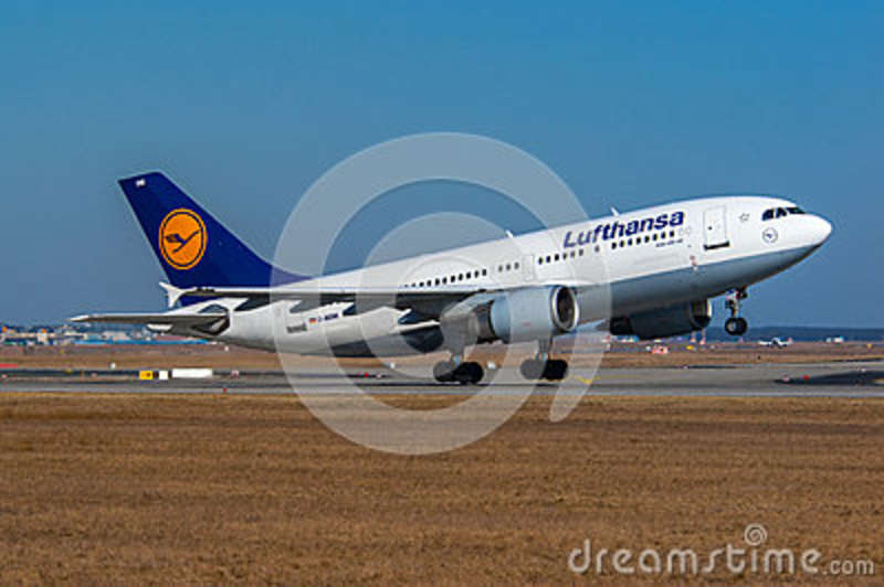 Lufthansa Airbus A310 editorial stock photo  Image of