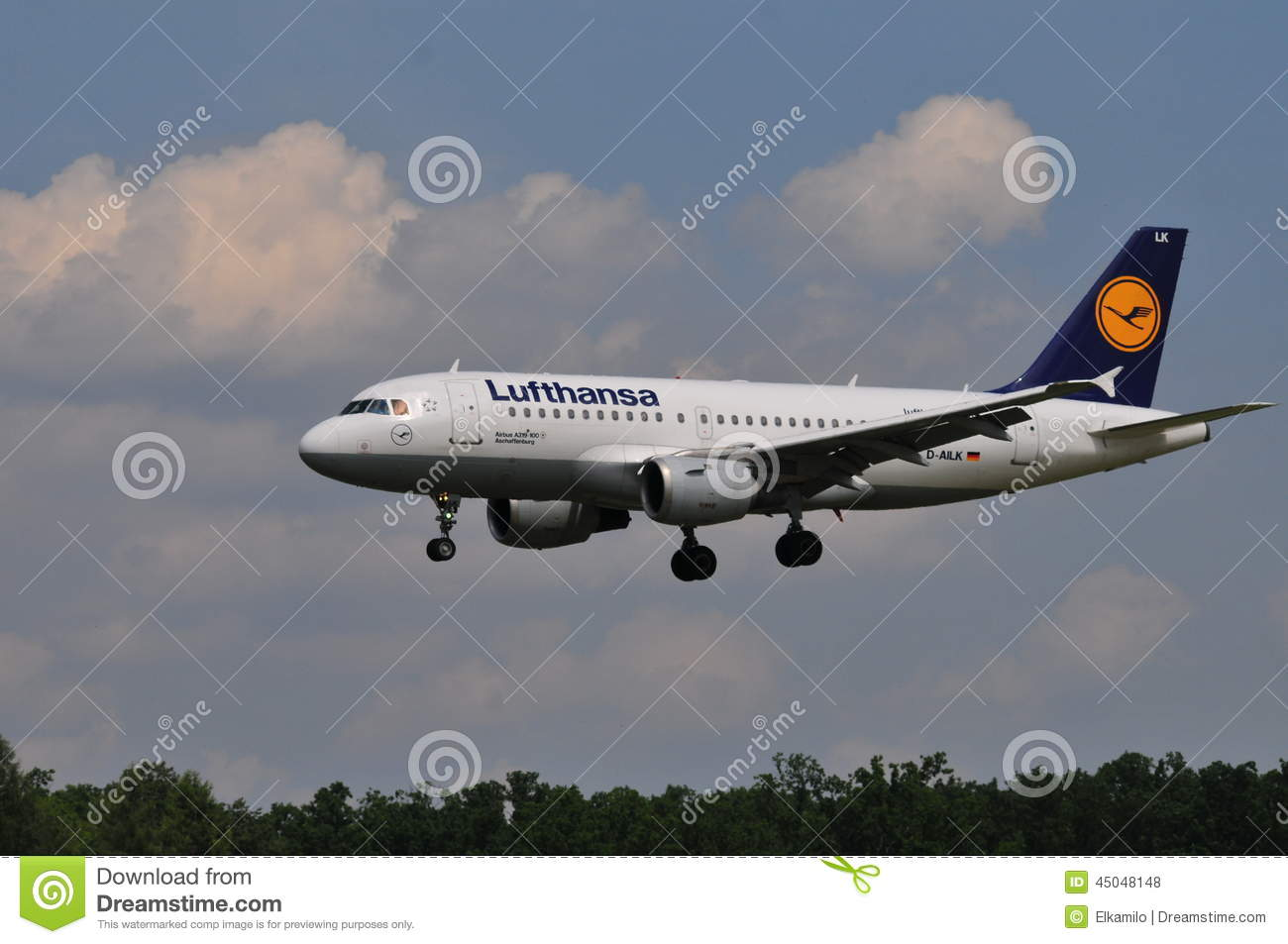 Lufthansa flight editorial stock photo image 45048148 for Lufthansa direct flights to germany