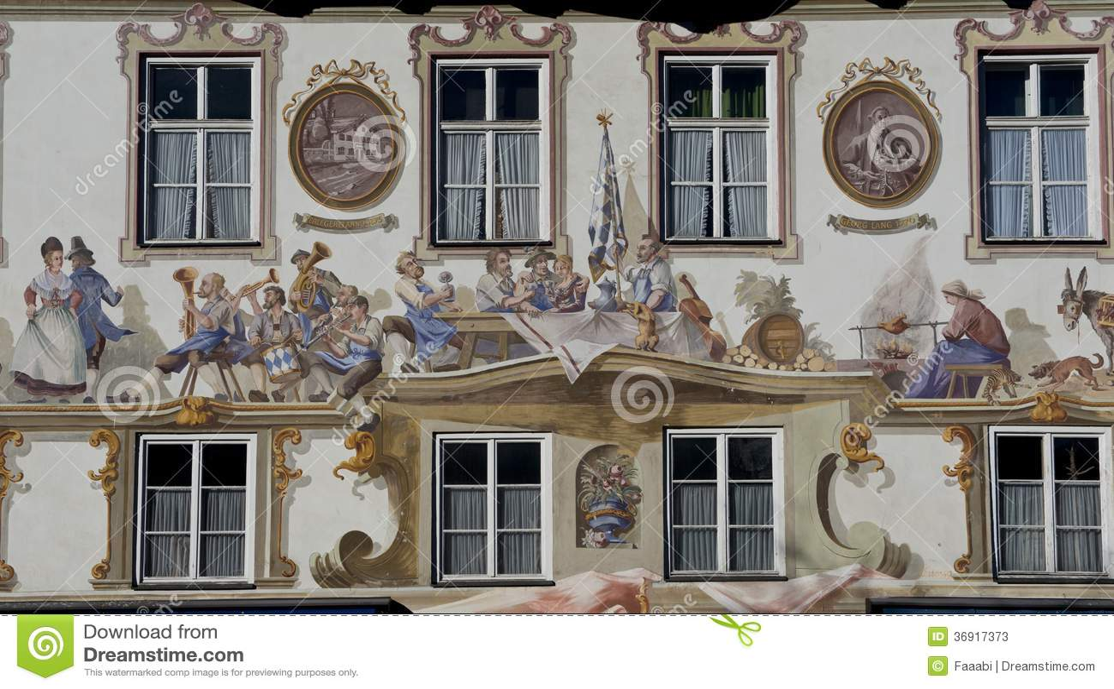 Luftmalerei w Oberammergau