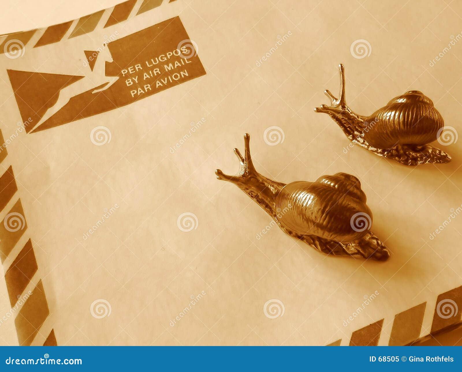 Luftpost oder snail mail?