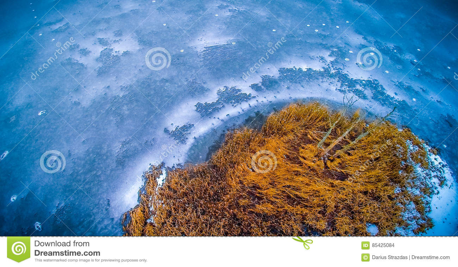 Luftsee eingefroren