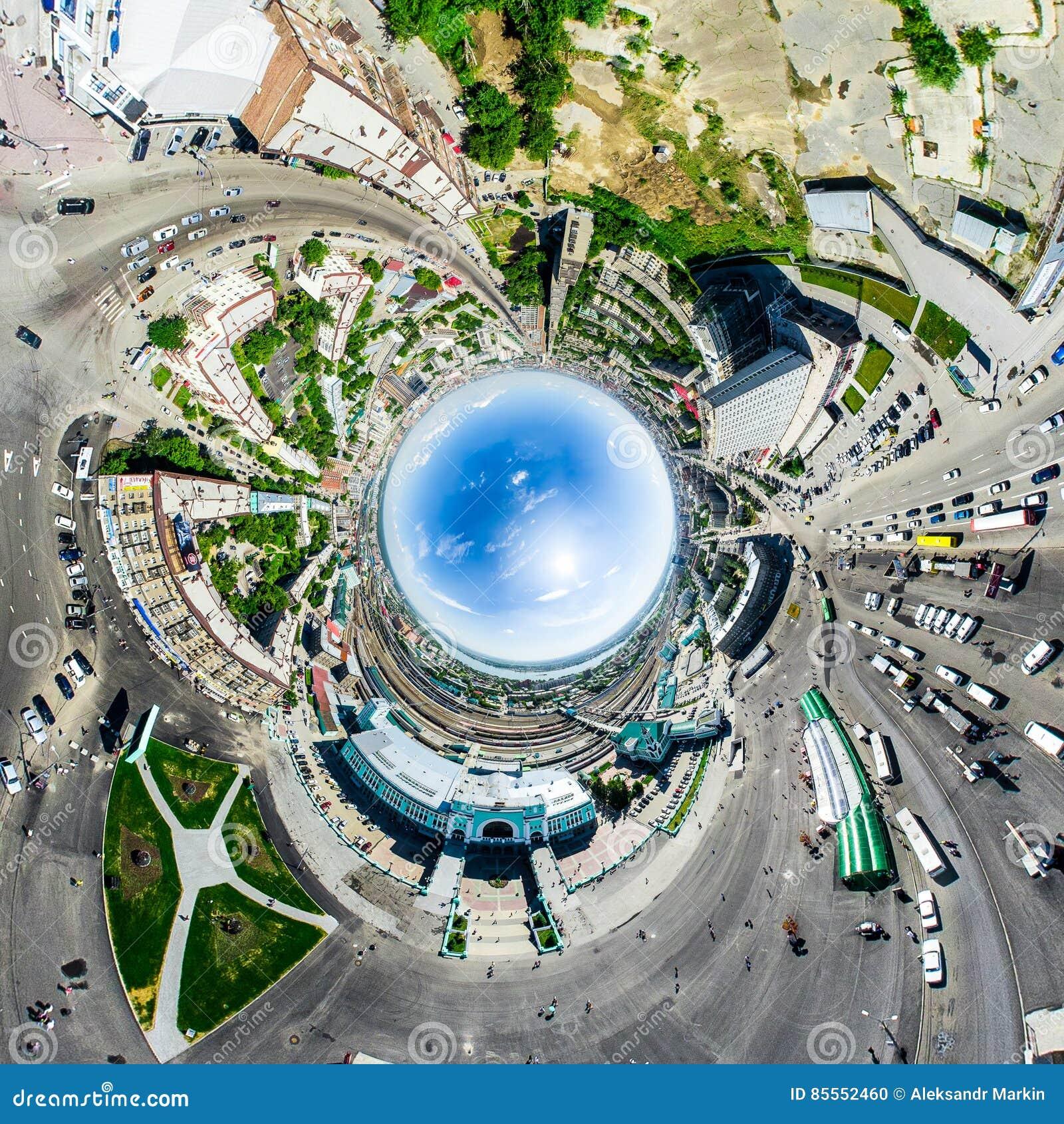 Luftstadtansicht Städtische Landschaft Hubschrauberschuß Panoramisches Bild