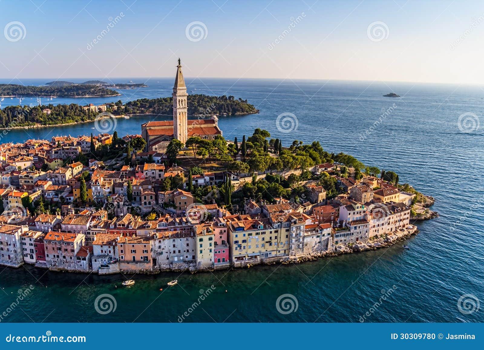 Lufttrieb von Rovinj, Kroatien