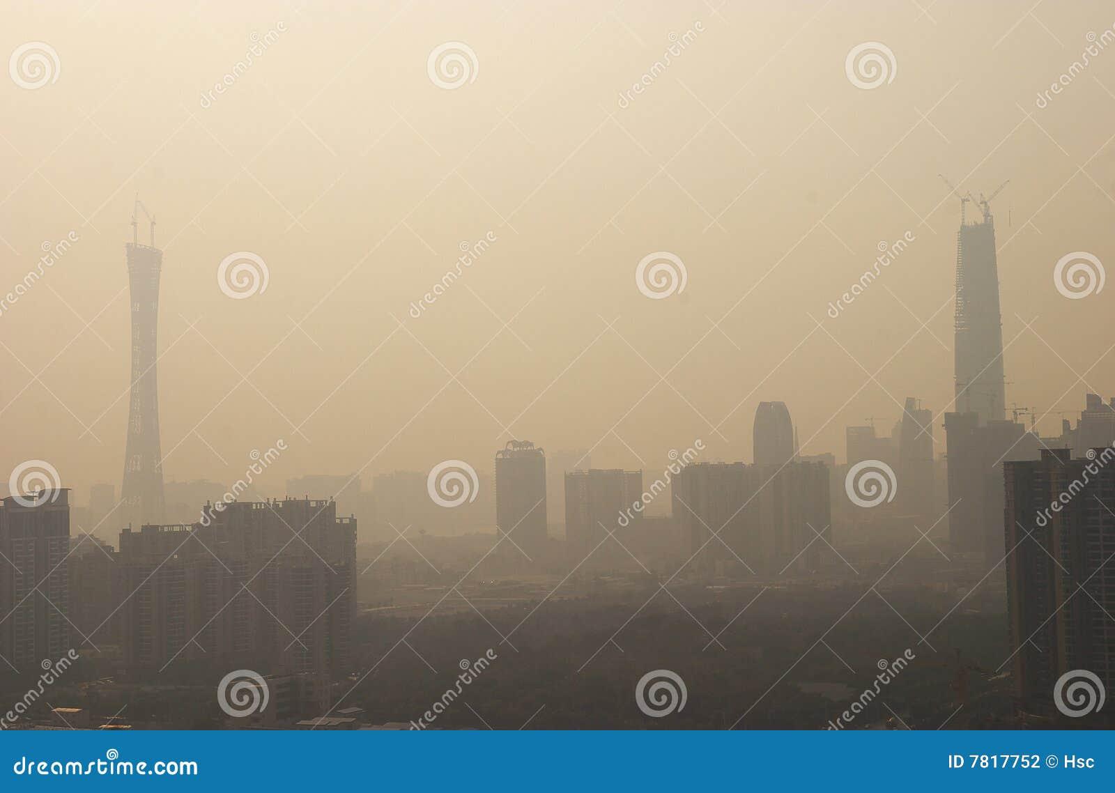 Luftverschmutzung des Porzellans