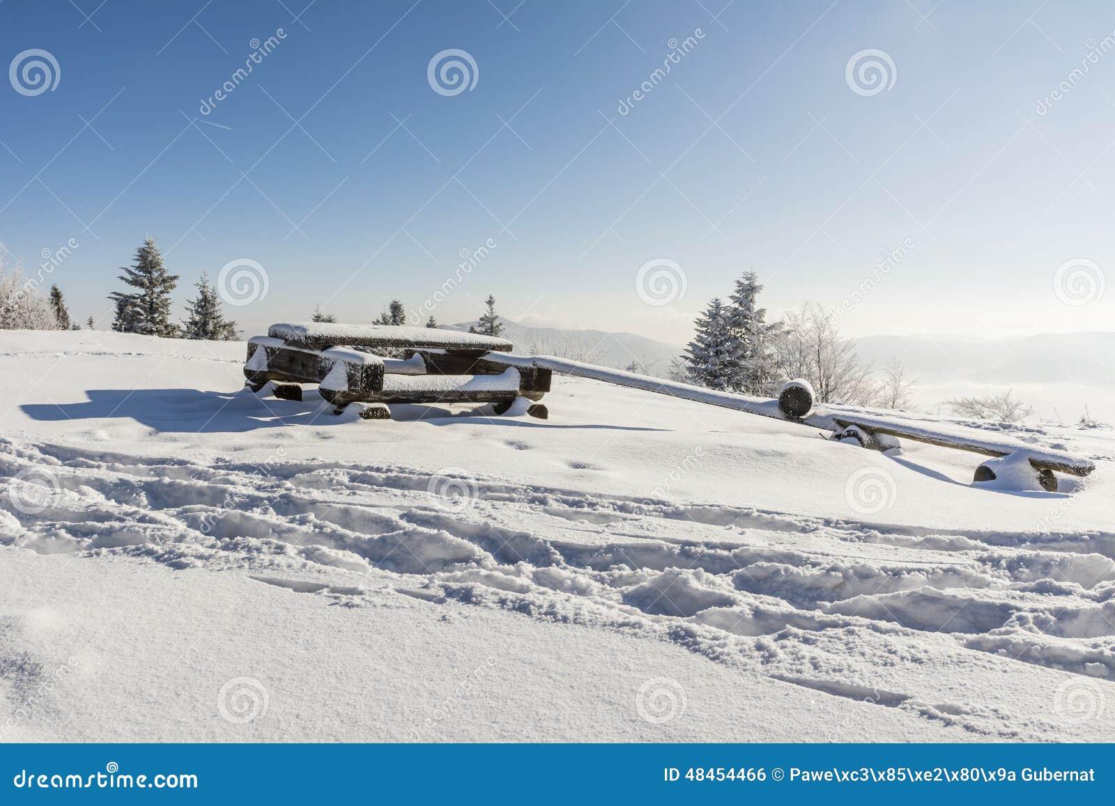 Lugar de descanso Nevado para los turistas