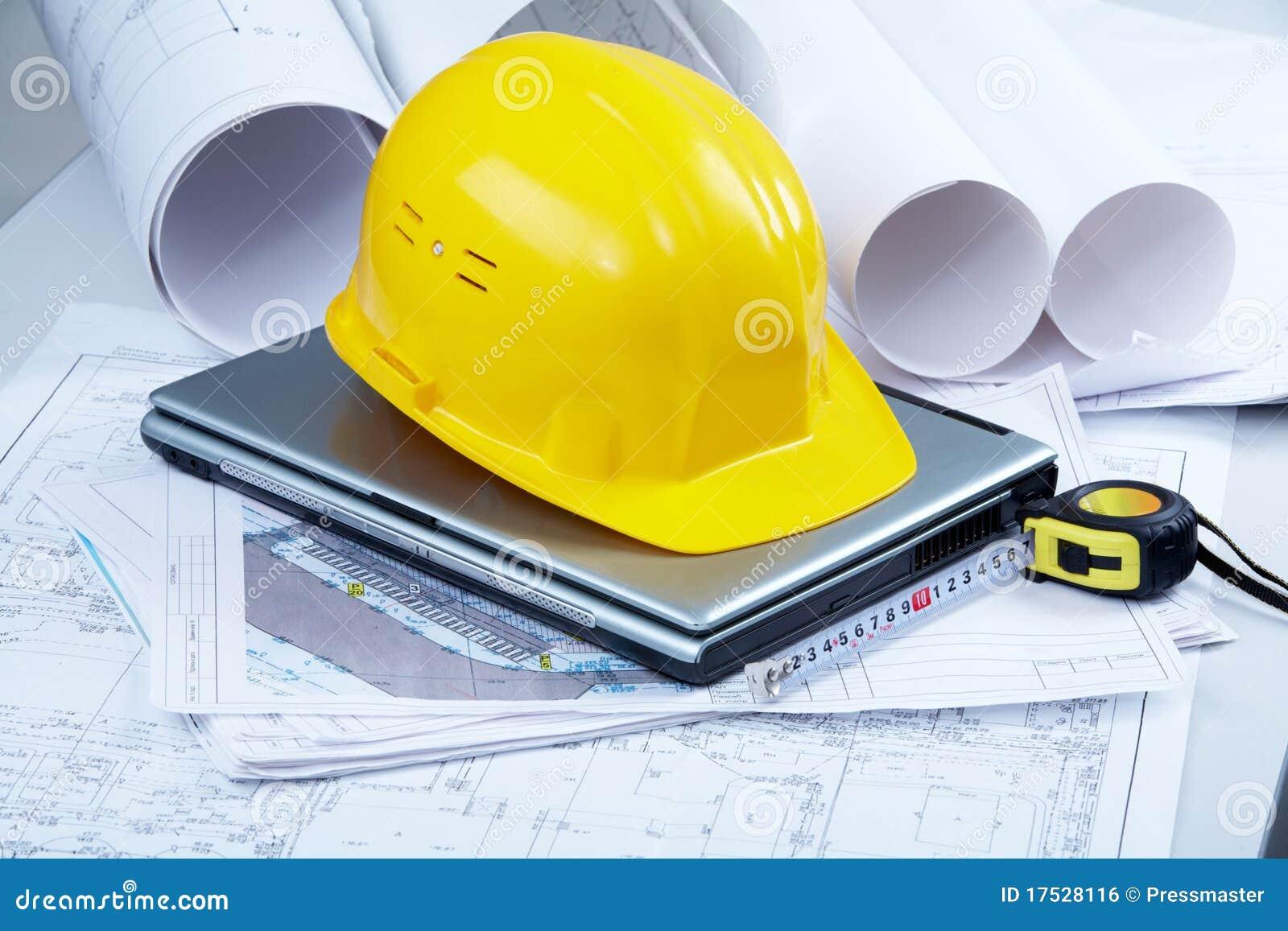 Lugar de trabajo del arquitecto imagen de archivo libre de for Trabajo de arquitecto