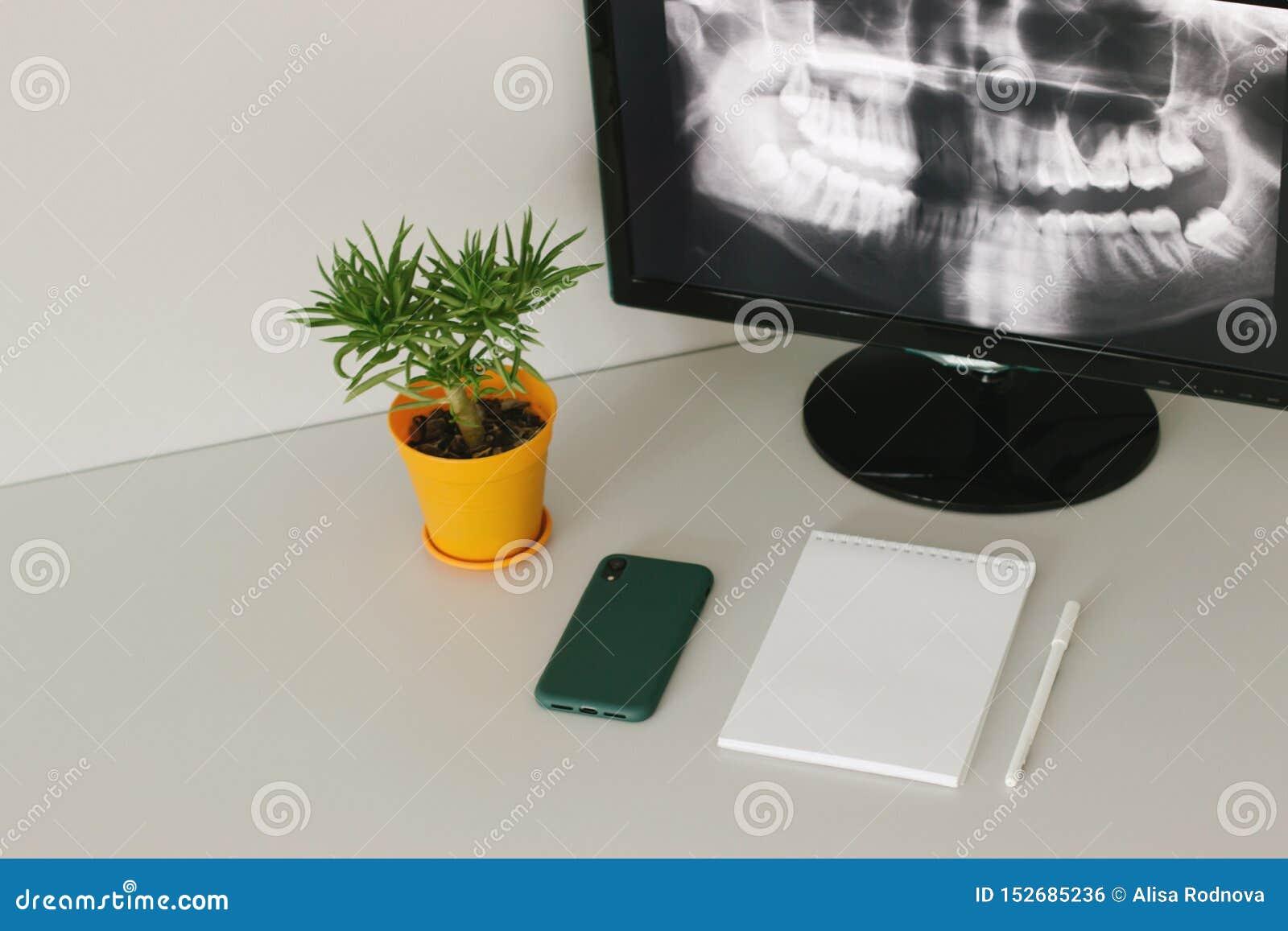 Lugar de trabalho acolhedor do radiologista