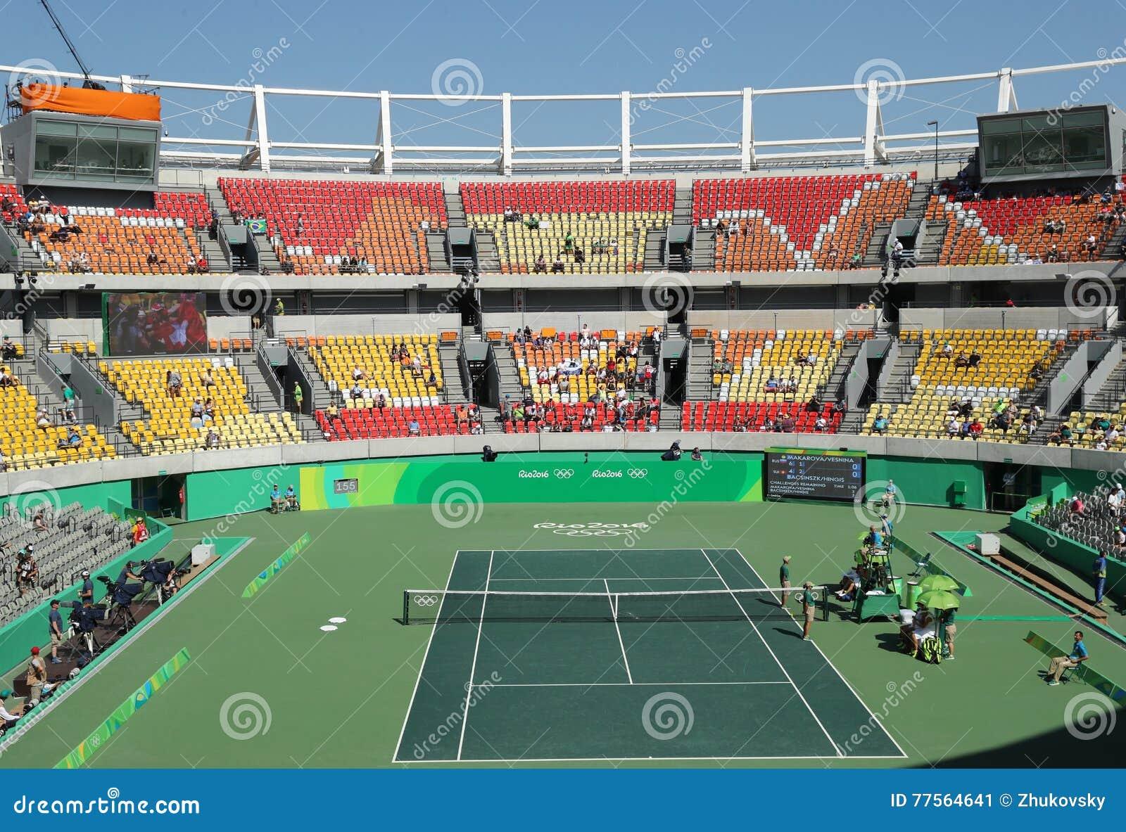 Lugar principal Maria Esther Bueno Court del tenis de la Río 2016 Juegos Olímpicos durante el fina de los dobles de las mujeres