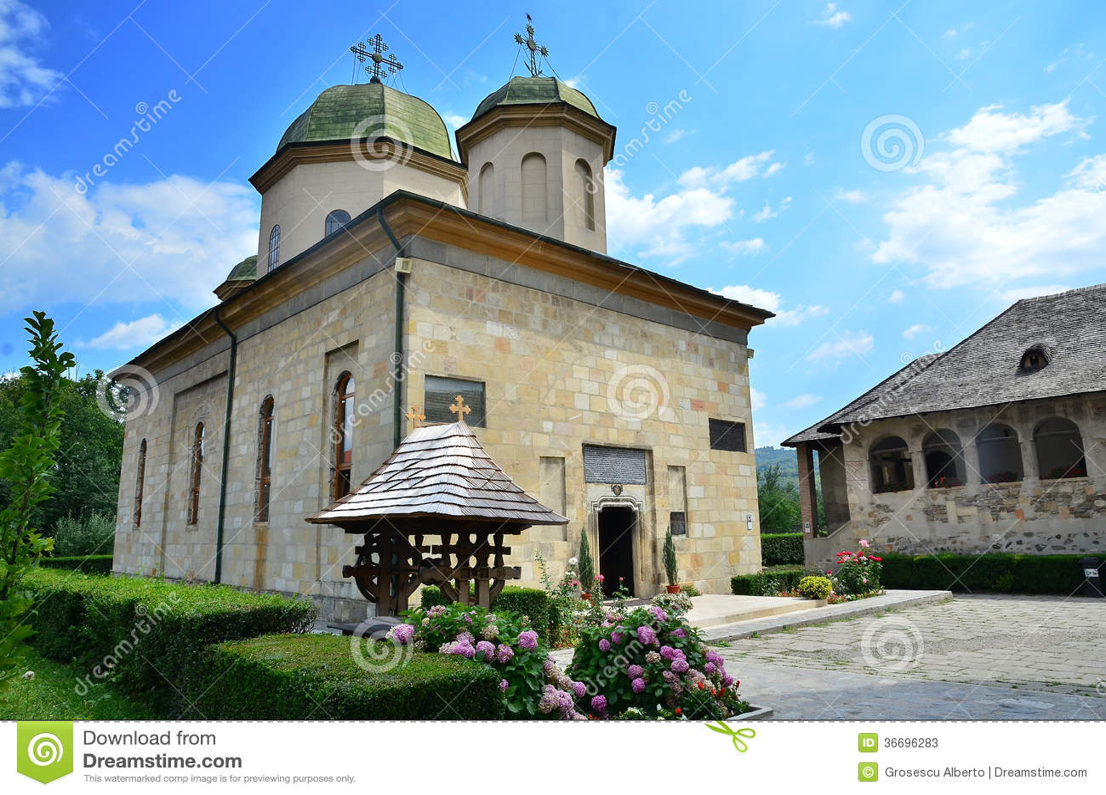 Lugares romenos - monastério de Negru Voda