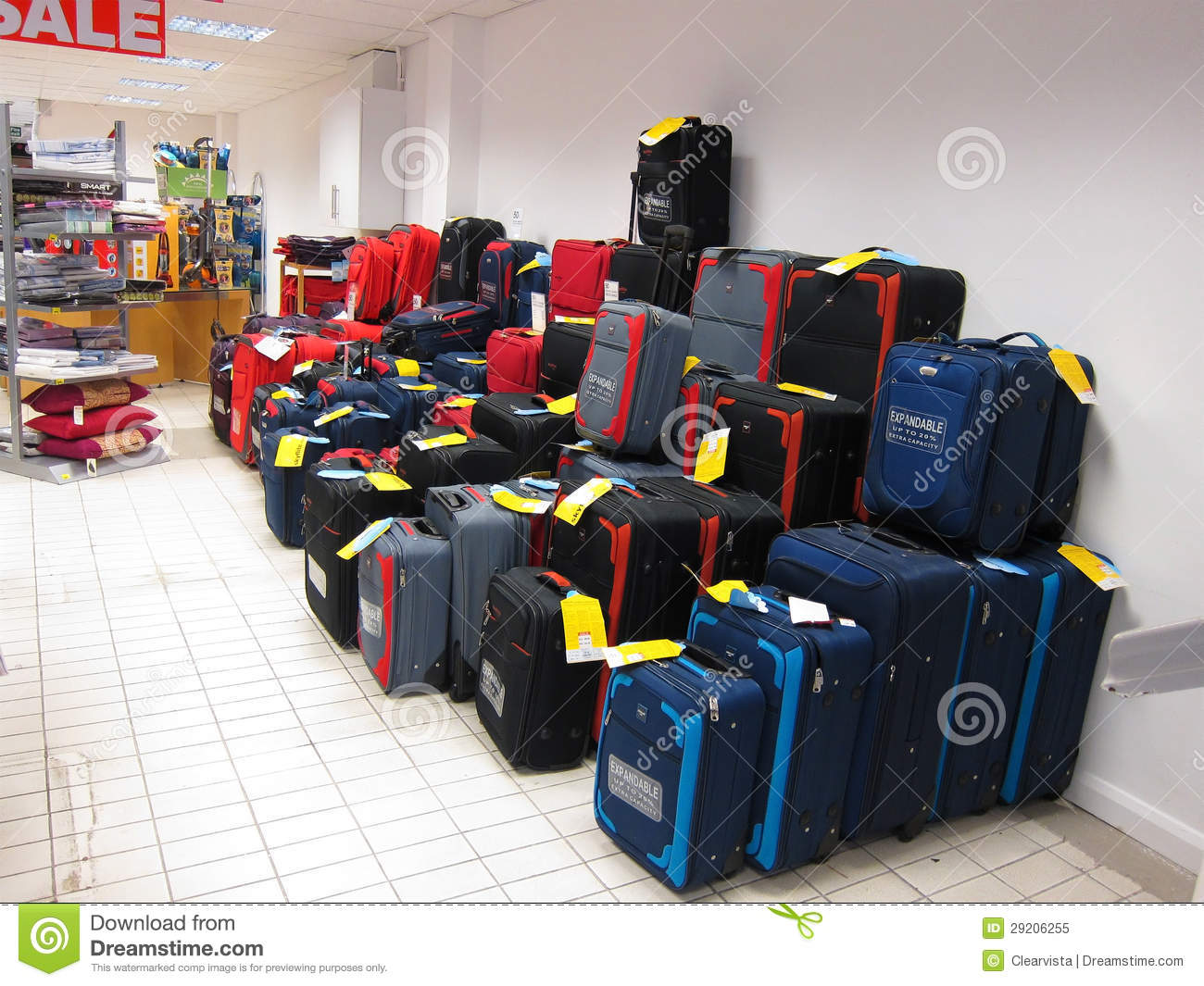 Luggage For Sale On Display. Editorial Image - Image: 29206255