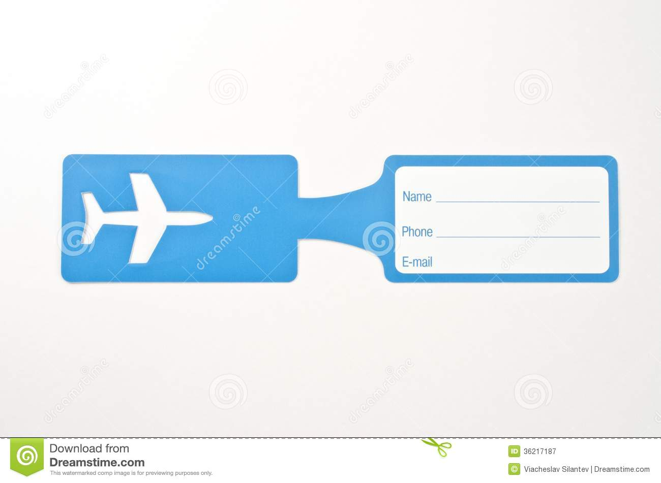 Luggage tag royalty free stock photography image 36217187 for Airline luggage tag template