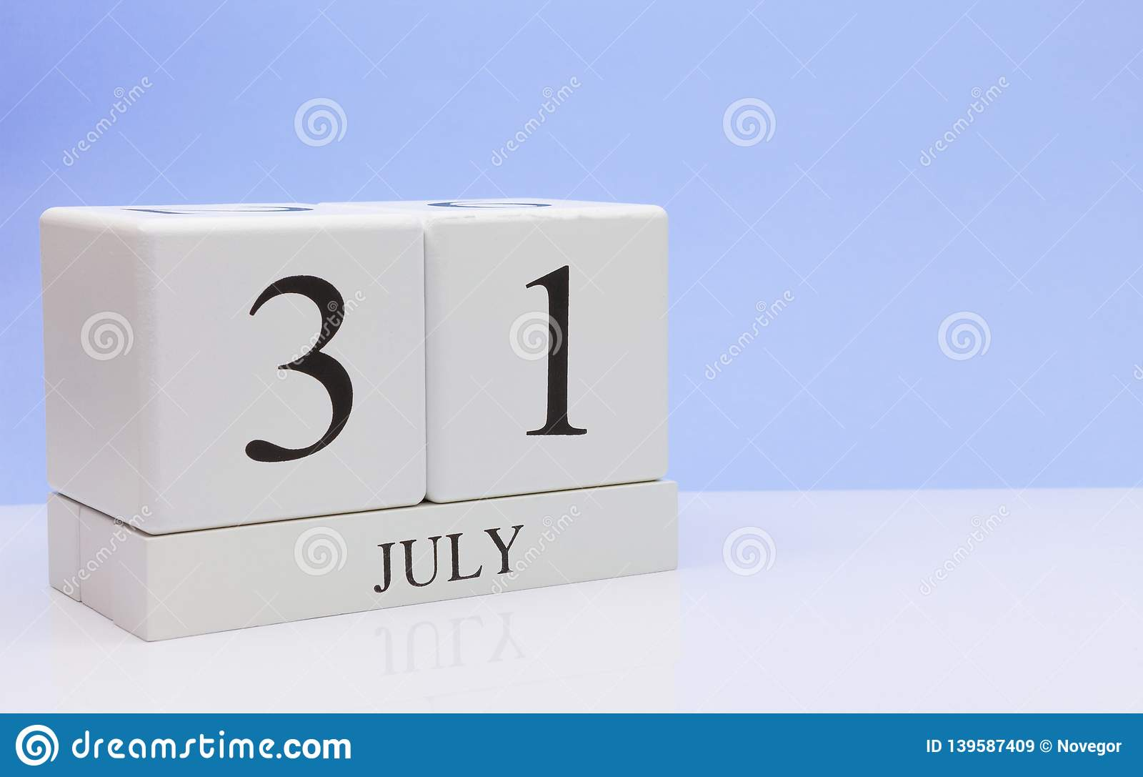 Calendario 31 Luglio.31 Luglio Giorno 31 Del Mese Calendario Quotidiano Sulla