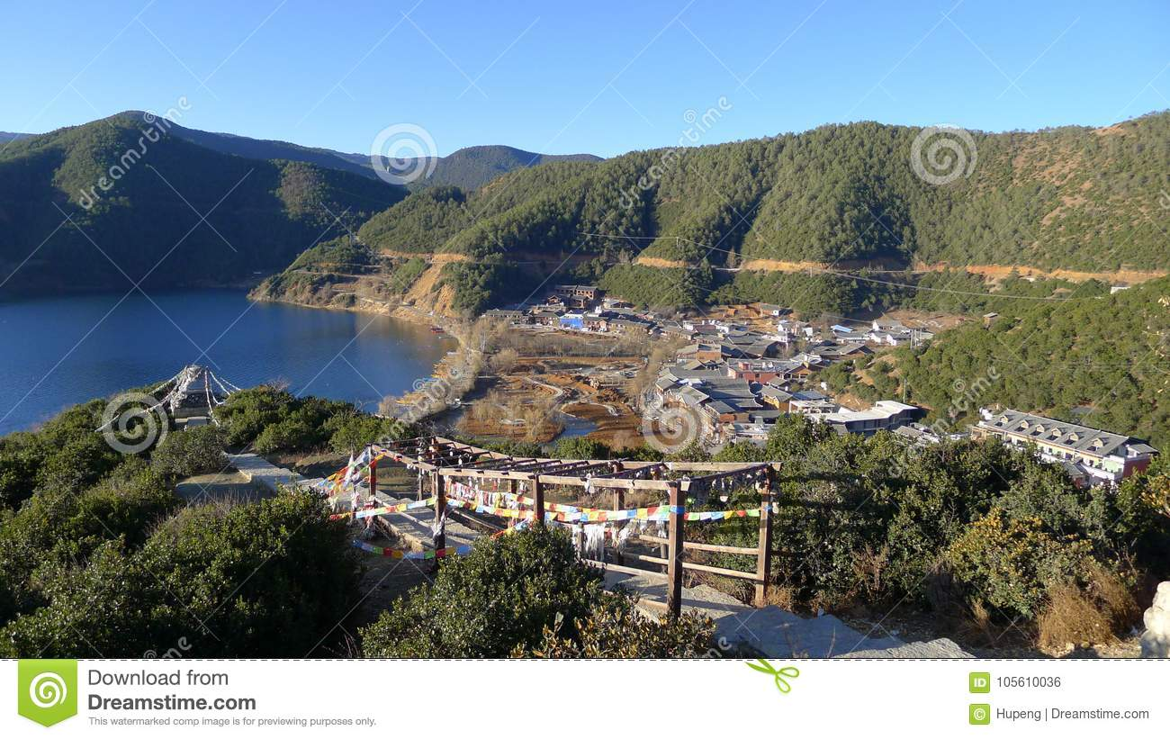 Lugu Lake editorial photo  Image of harmony, countryside