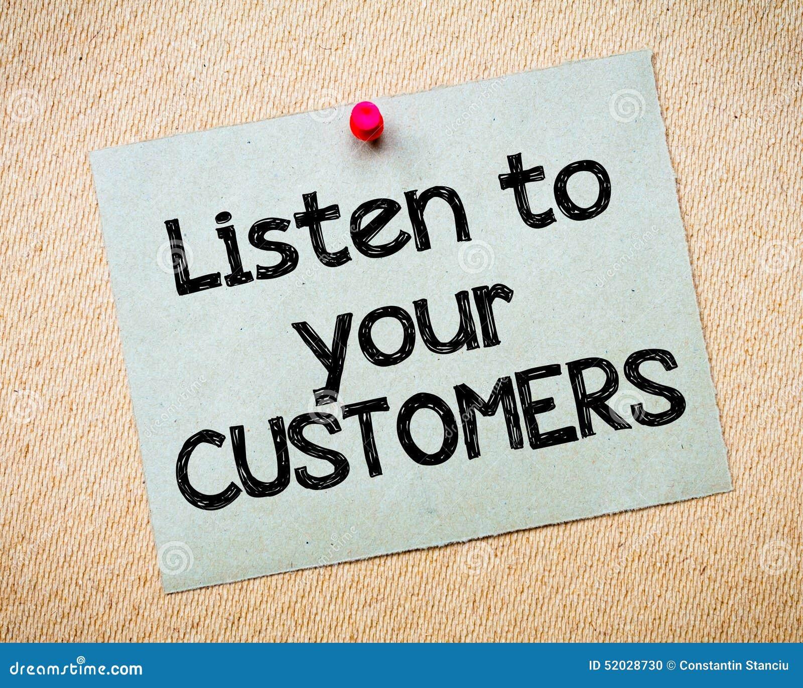 Luister aan uw klanten