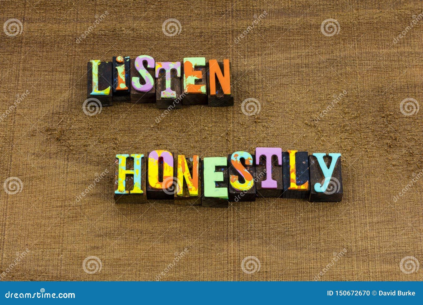 Luister het goede gesprek van luisteraargewoonten leren eerlijk uitdrukking