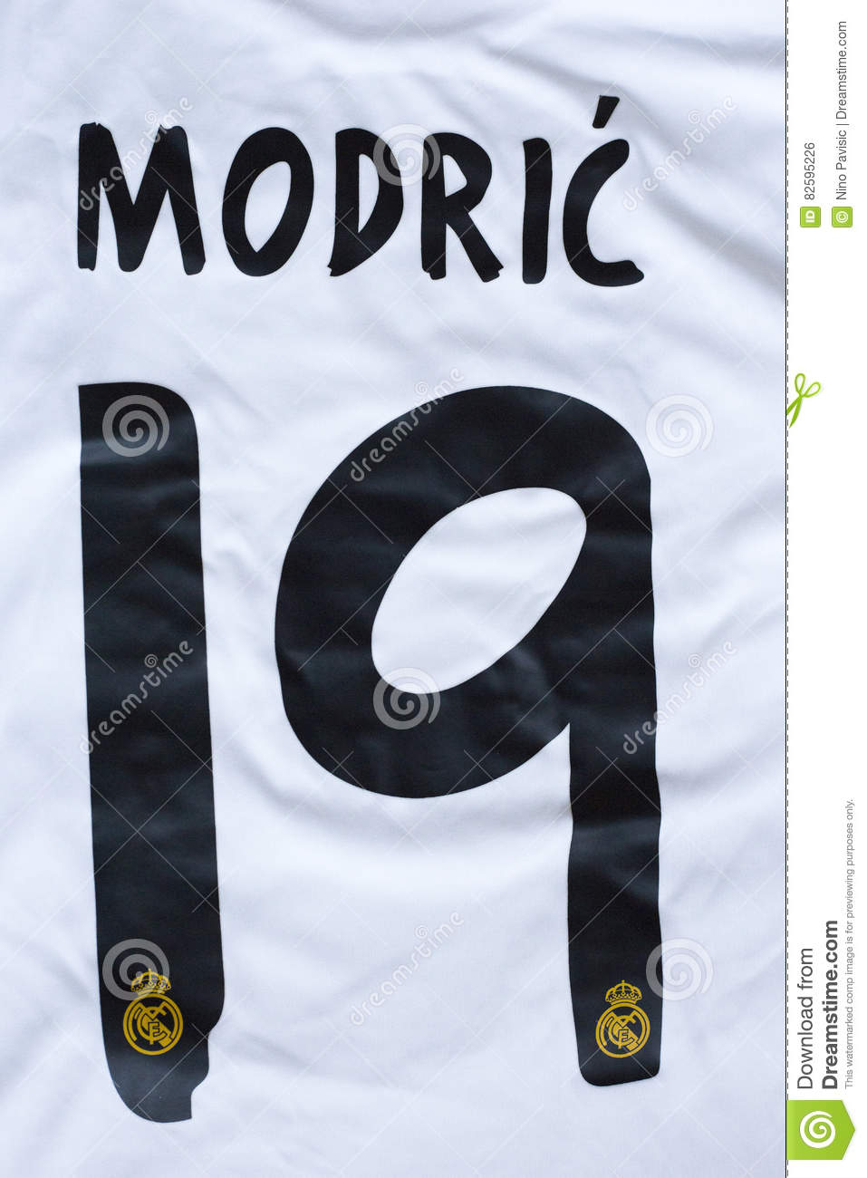 the latest b3dd1 f2664 Luka Modric Real Madrid Shirt Editorial Photo - Image of ...