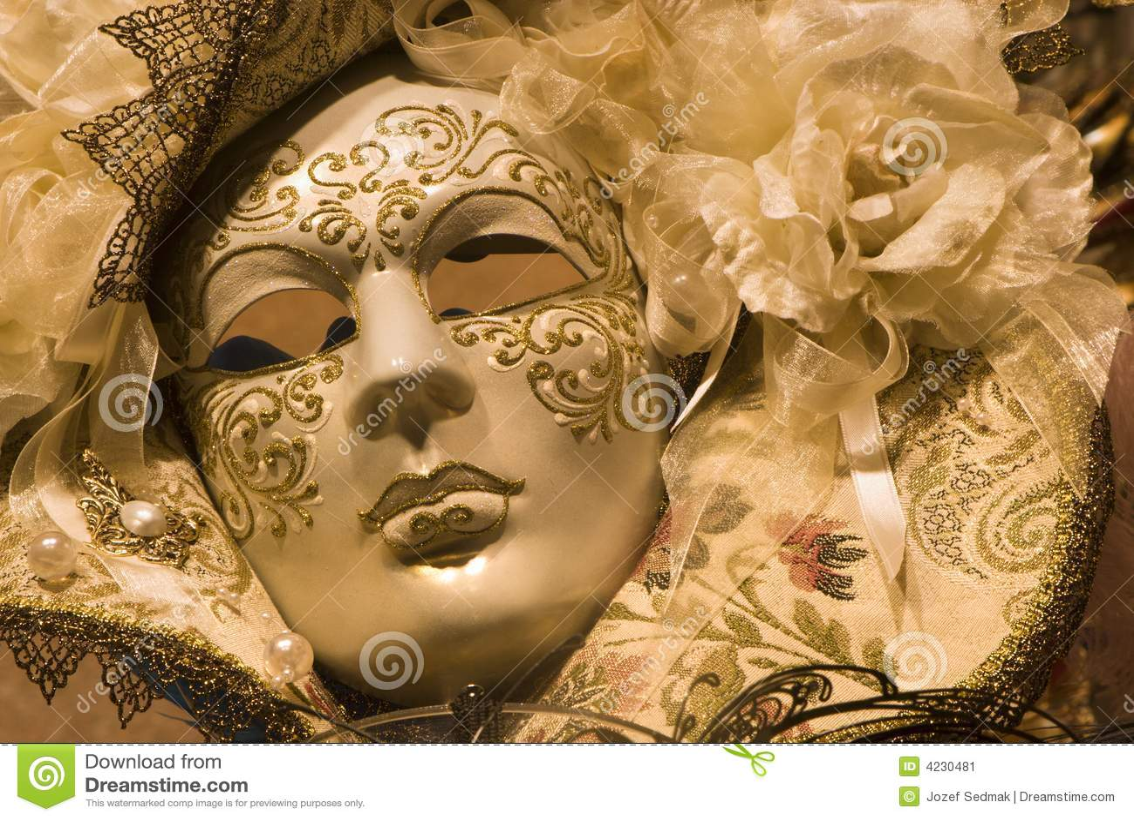 Luksus złota maska Wenecji
