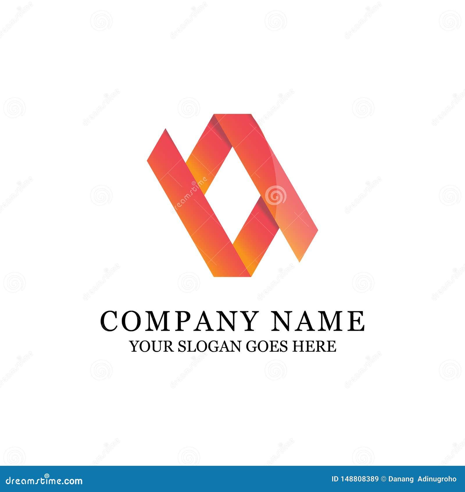 Luksusowa gradientowa abstrakcjonistycznego symbolu logo ilustracja