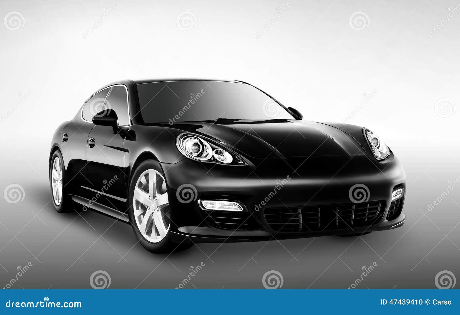 Luksusowy czarny samochód (ścieżka Zawierać)