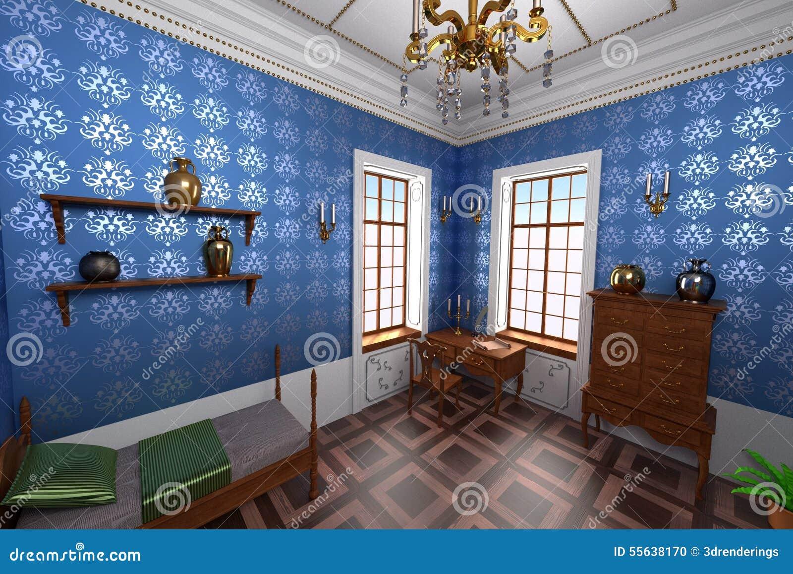 Luksusowy rezydenci ziemskiej wnętrze