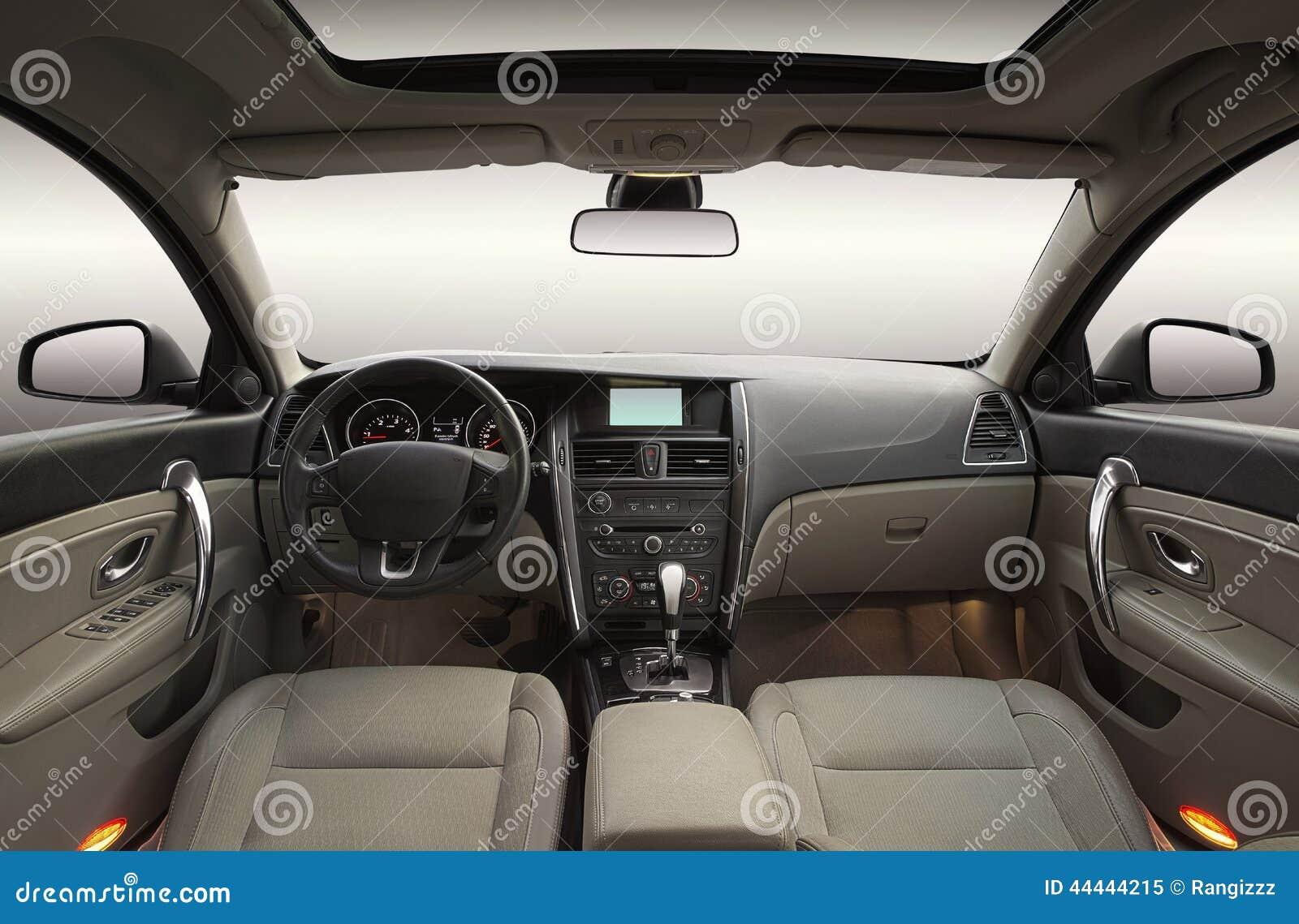 Luksusowy samochodowy wnętrze