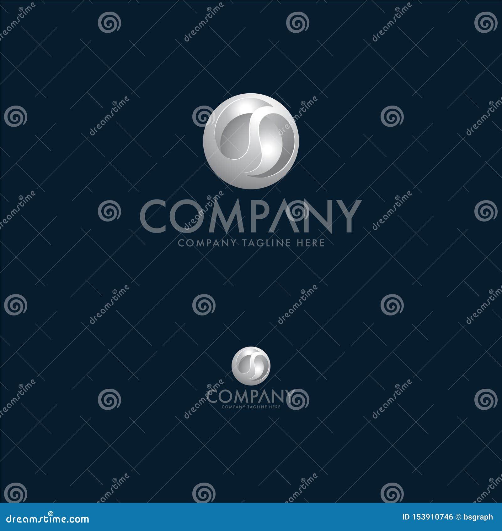 Luksusu srebra listu 3d logo projekta szablon
