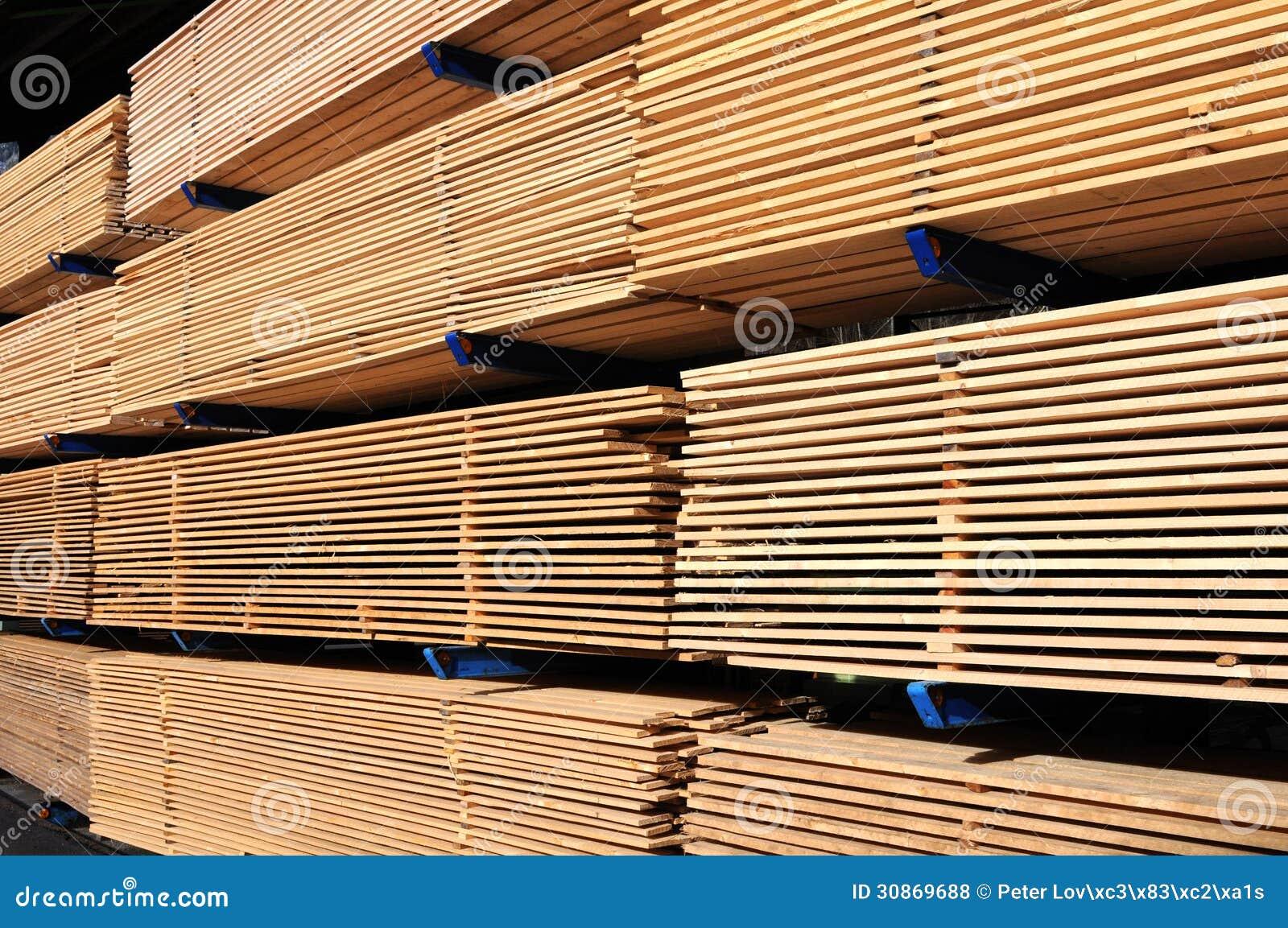 Lumber at a sawmill royalty free stock photos image