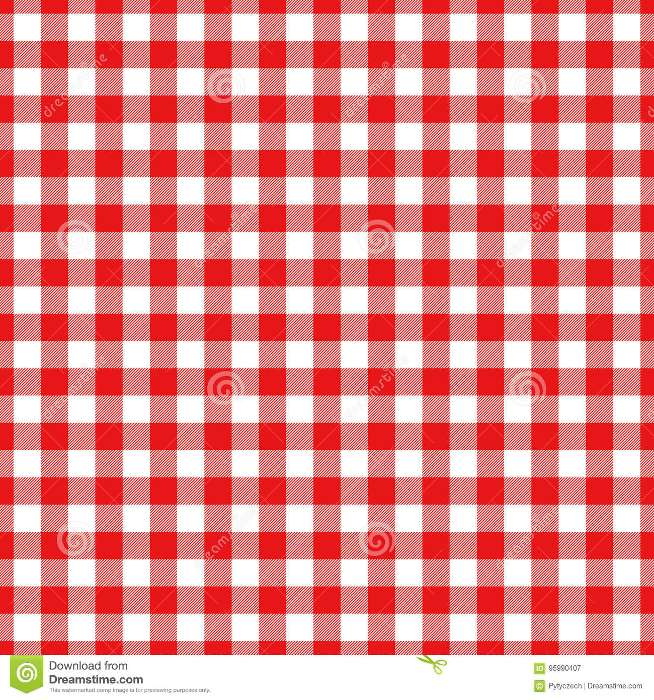 Lumberjack plaid pattern in red and black. Seamless vector pattern.