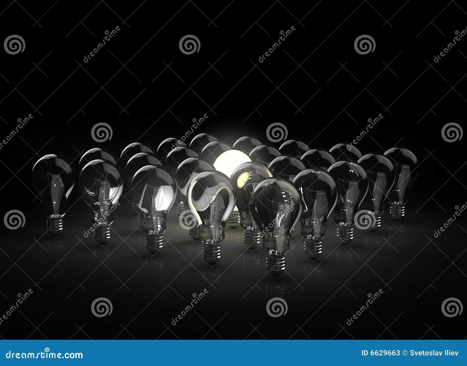 Lumière d ampoules