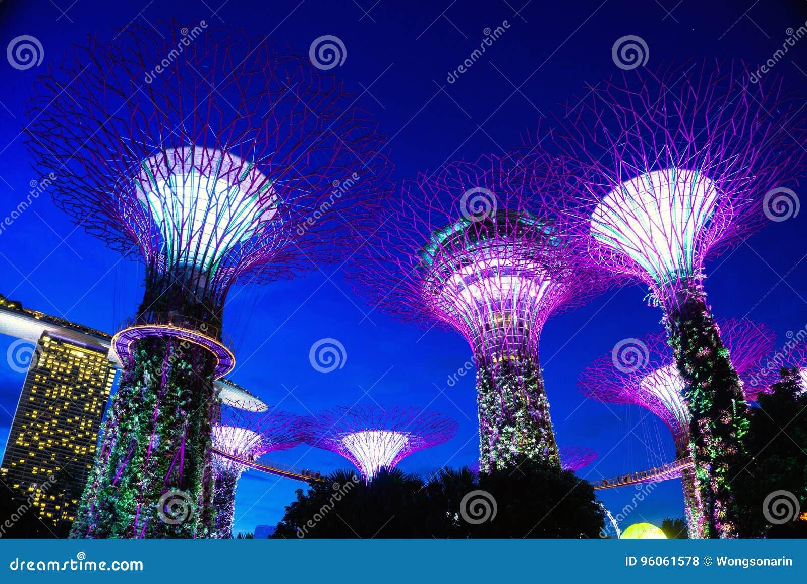 Lumière de soirée chez Marina Bay Singapore