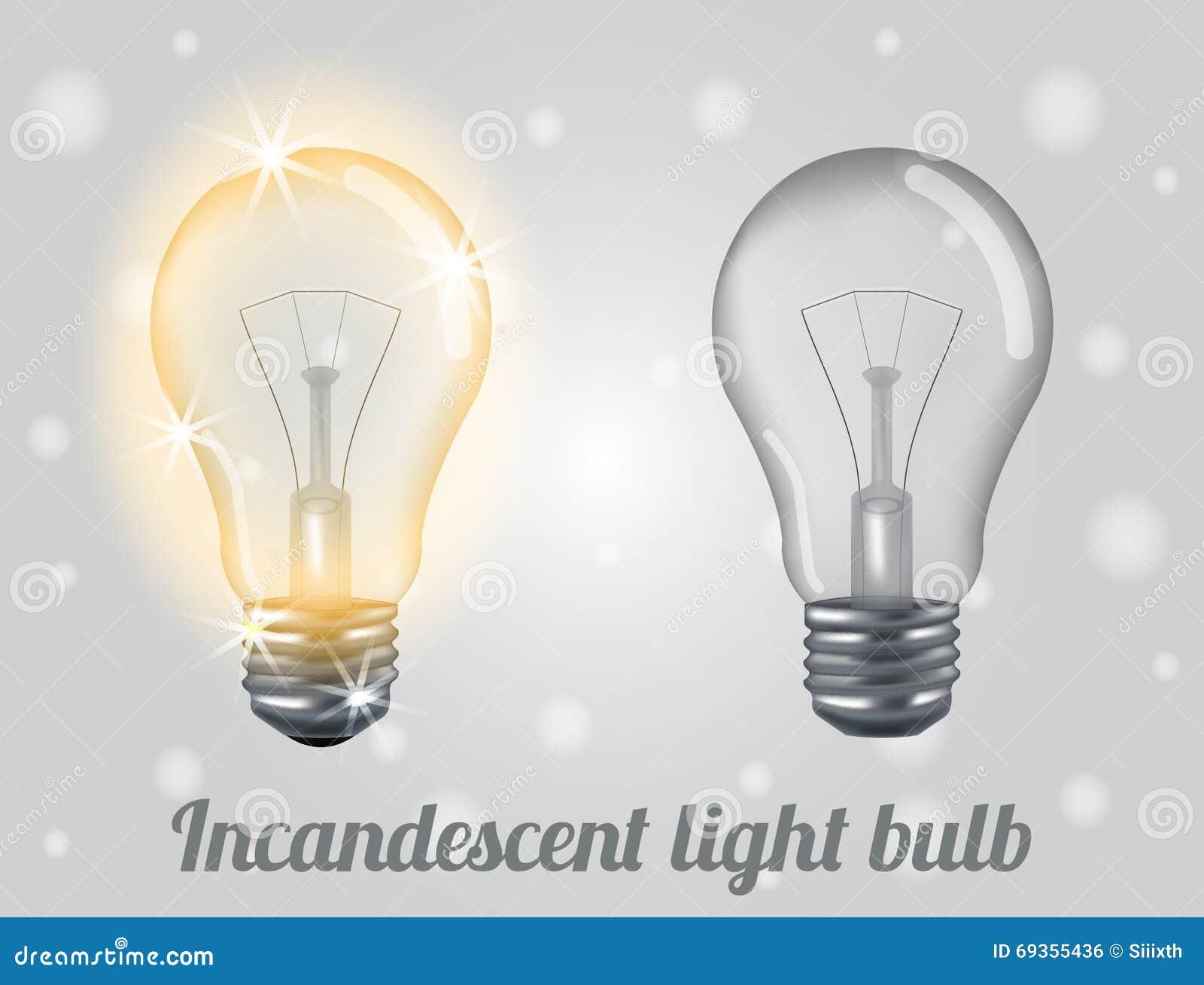 Lumière incandescente d ampoule