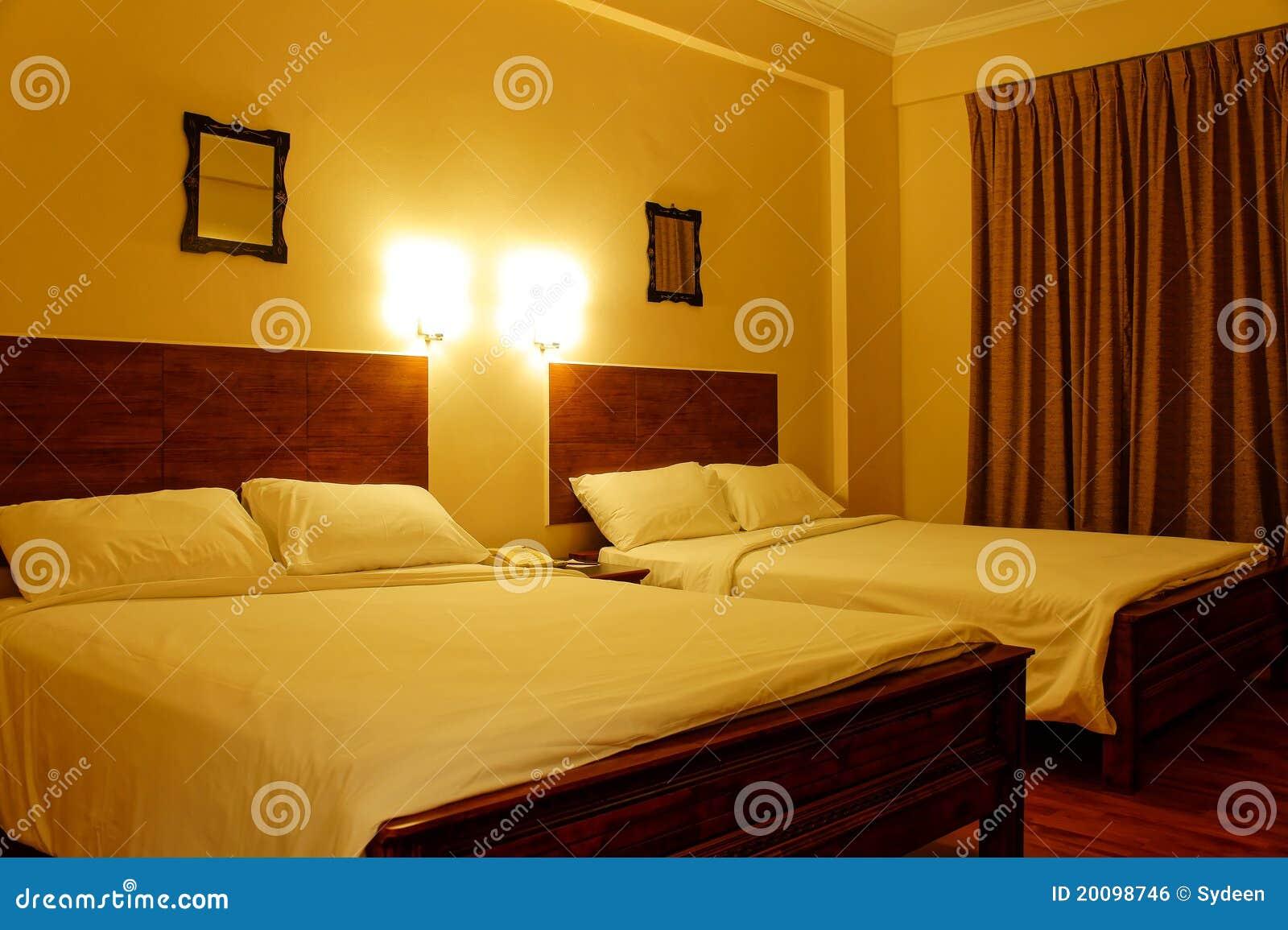 Lumière Romantique De Chambre à Coucher D\'hôtel Photo stock - Image ...