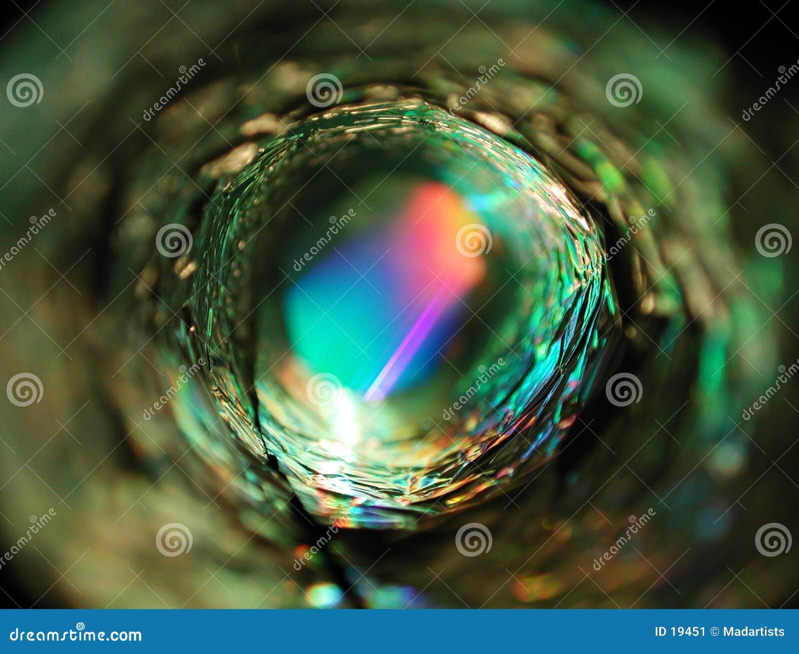 Lumière rougeoyante de cercle métallique