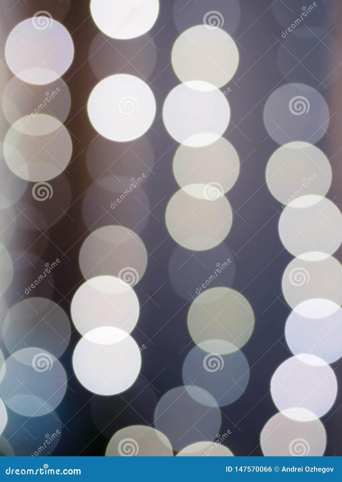 Lumières abstraites de bokeh avec la lumière molle
